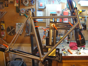 Photo: Dry fitting the seat stays up.