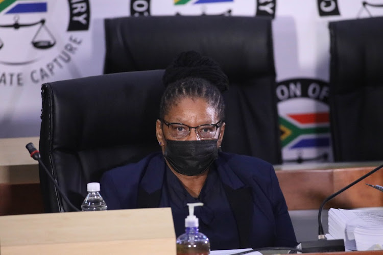 Speaker of Parliament Thandi Modise testifies at the State Capture Inquiry in Johannesburg. Picture: VELI NHLAPO