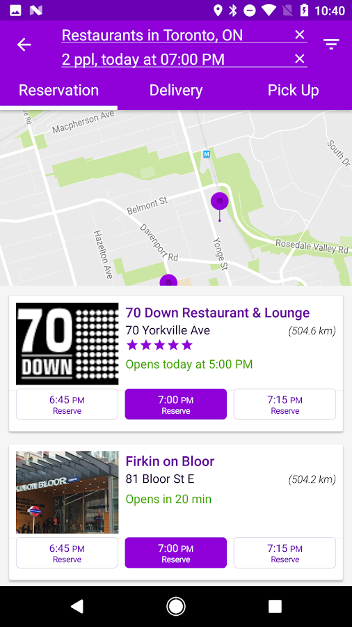 YP Dine - Restaurant Finder- screenshot