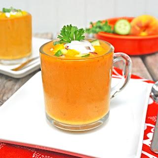Peach and Roasted Jalapeno Gazpacho