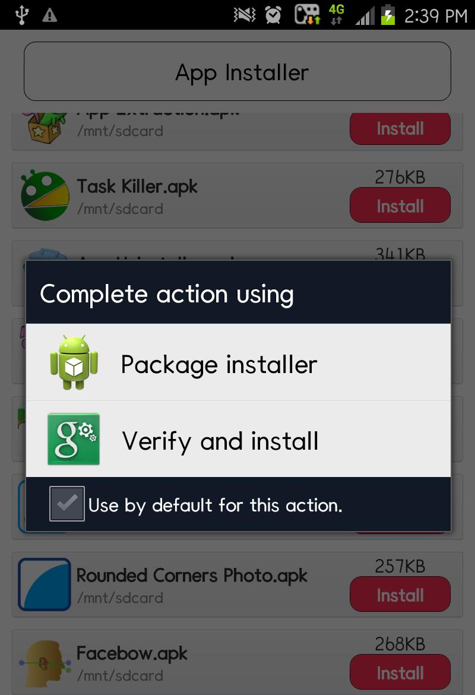 Скриншот App Install