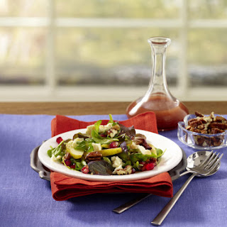 Pear and Cheese Salad with Pomegranate Vinaigrette