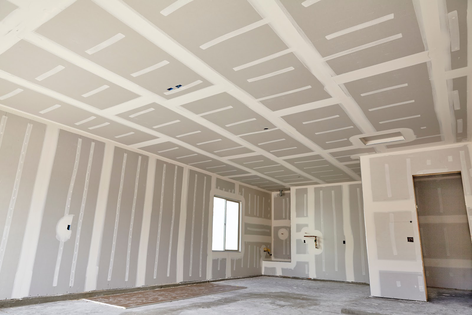 Finished dry wall project with no paint