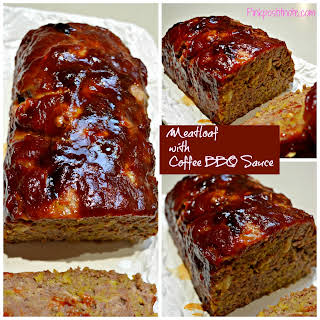 Meatloaf with Coffee BBQ Sauce.