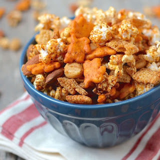 Sweet and Spicy Popcorn Snack Mix