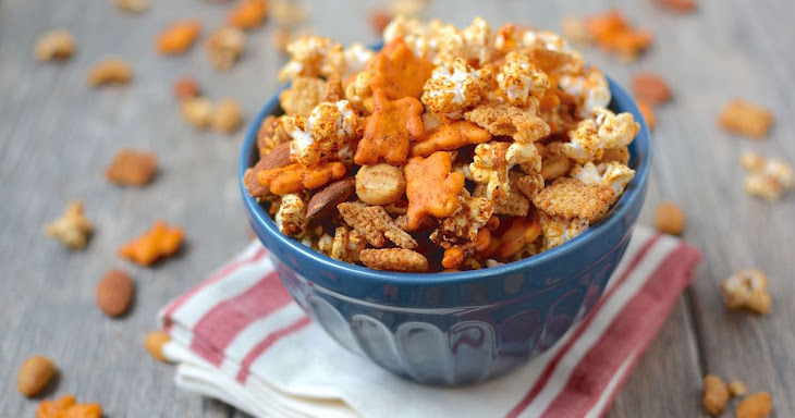 Sweet and Spicy Popcorn Snack Mix Recipe