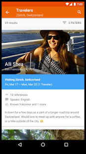 Couchsurfing Travel App- screenshot thumbnail