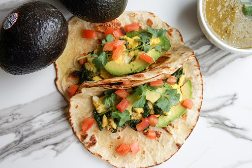 The 28-Day Shrink Your Stomach Challenge Breakfast Spinach Tacos