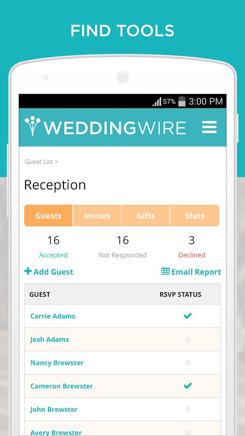 Wedding Planning App- screenshot