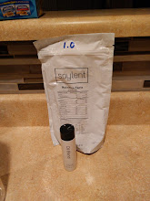 Photo: Soylent 1.0  Taste  warm & cold: sweet, vanilla, followed by a floury finish  Texture  warm & cold: thin, smooth, with a gritty finish  Fullness  not overly full, no longer ravenous  Notes  Got this in a trade, thanks, excited to try as many as possible. After refrigeration it separated and needed shaking again. Kinda gassy now I guess this is the stinky soylent farts everyone was referring to (which I found were less, and went away after adjustment period with 1.3, 1.4, 1.5). Taste doesn't bother me, I expected it to be different based on all the chatter about OMG ITS BETTER when i joined the community wit 1.3.  buy: https://www.soylent.com/  Project Tag: https://amazonv.dreamwidth.org/tag/soylent+experiment  Spreadsheet: https://docs.google.com/spreadsheets/d/1c_ceOFR7S_4qUiVcEG3ykQiSRpuc13PnmcraBwklDWg/edit#gid=0  Photos: https://plus.google.com/photos/104379818983119483801/albums/6137295043742319505  writeup: http://amazonv.dreamwidth.org/68376.html