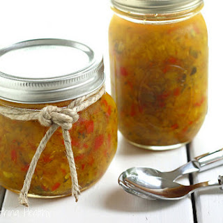 Sweet and Spicy Zucchini Relish.