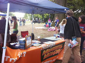 Photo: We were set up on two sides to accommodate crowds
