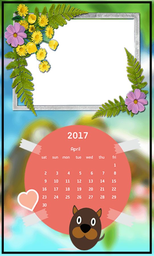 calendar frames 2017 screenshot
