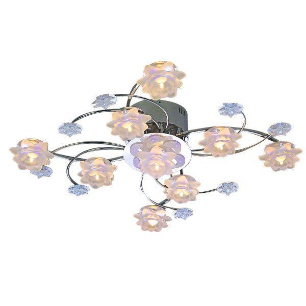 Đèn chùm mâm ốp trần hoa thủy tinh kiểu Ý Venus 6809/9