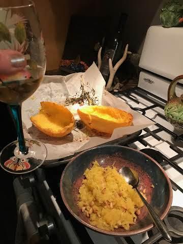 Spaghetti Squash with Pine Nuts