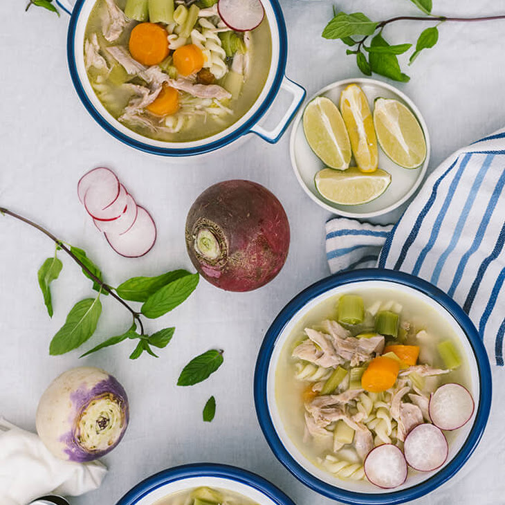 Winter Vegetable Chicken Noodle Soup Recipe