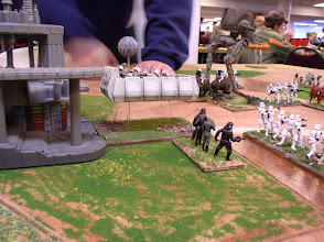 Photo: Scenerio 6: Rebel Raid on Bespin - The Rebel Airboat attacks the Imperial Outpost Stronghold!