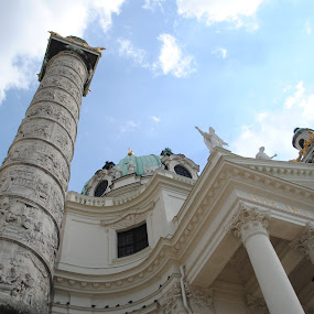 Karlskirche ~ Vienna, Austria by Ray Anthony Di Greco - Buildings & Architecture Architectural Detail