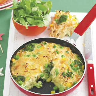 Vegetable and Noodle Frittata.