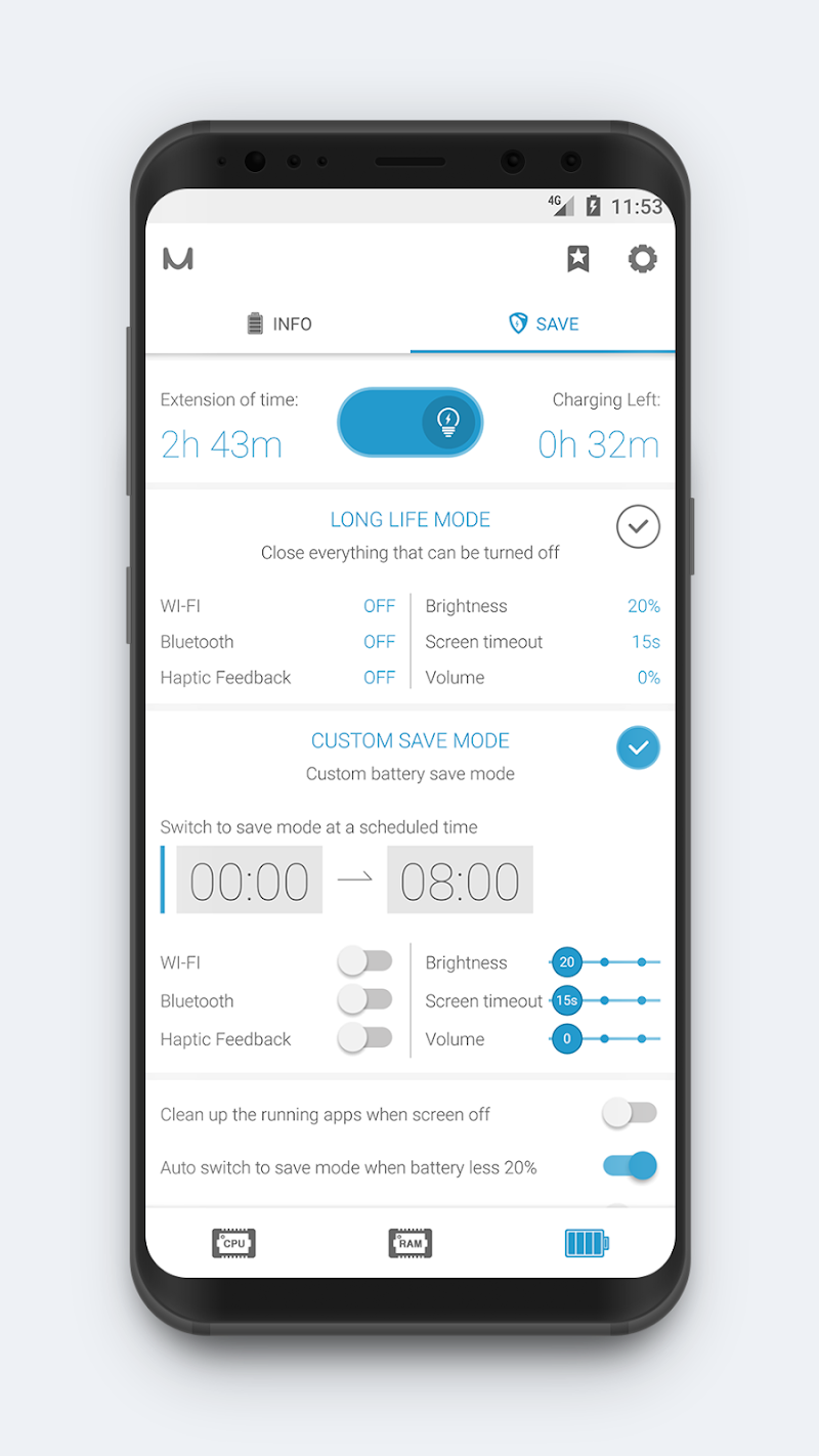 System Monitor - Cpu, Ram Booster, Battery Saver Screenshot 6