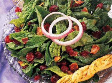 Cranberry-spinach Salad With Warm Bacon Dressing