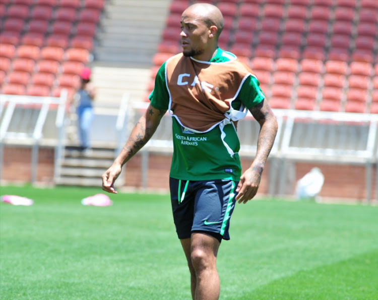 Dino Ndlovu during the South African national mens soccer team training session at Peter Mokaba Stadium on November 07, 2017 in Polokwane, South Africa.
