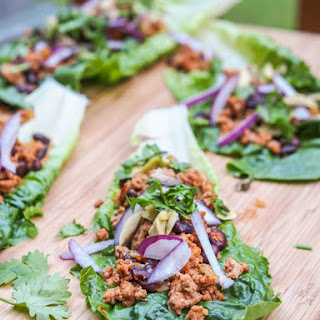 Mexican Turkey Taco Lettuce Wraps {Gluten-Free, Dairy-Free}.