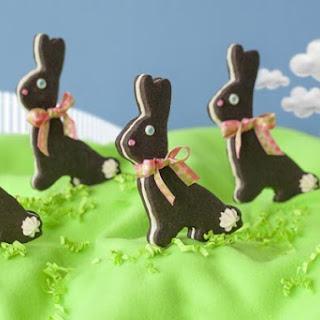 Chocolate Sandwich Bunny Cookies