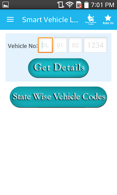RTO Vehicle Information Track - screenshot