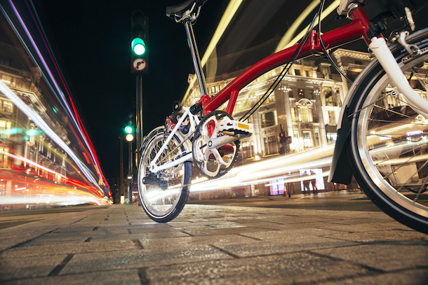 Alt text: Brompton Bicycle is a British manufacturer of folding bicycles, making over 45,000 bikes each year.