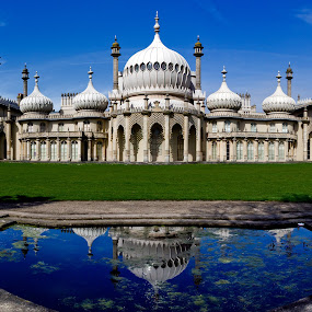 The Royal Pavilion, Brighton, England, UK by Peter Greenhalgh - Landscapes Travel ( water reflections, uk, reflection, royal pavilion, king george iv, seaside, old building, prince regent, england, brighton, prince of wales, sussex, john nash, royal palace )