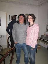 Photo: AUSSTELLUNG GUSTAVO JUÁREZ. Vernissage 14. Januar 2015. Gustavo Juárez und seine Frau. Foto: Renate Cupak