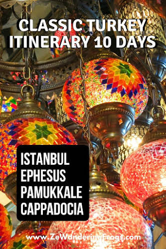 Classic Turkey Itinerary 10 Days: Istanbul, Ephesus, Pamukkale, and Cappadocia // Lanterns in Istanbul Bazaar