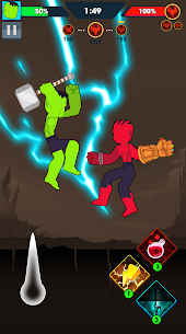Stickman Ragdoll: Join the Super Hero Mod Apk (One Hit + No Ads) 3