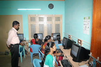 Photo: Mr.Arul,Assistant Programme officer-JSS,Ministry of HRD,Government of India monitoring the practical session being conducted at our CTC