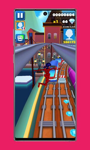 subway Lady Endless jump V3: cat runner noir jogos apktram screenshots 4