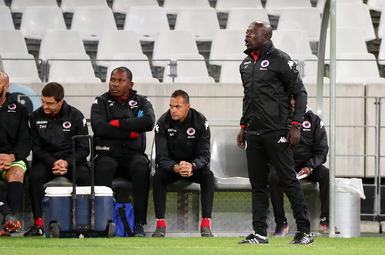 SuperSport United caretaker caoch Kaitano Tembo will be considered when the club decides on a permanent coach before the start of the 2018/19 pre-season, the club's chief executive Stan Matthews has confirmed on May 10 2018. , head coach of Supersport United reacts, issues instructions during the Absa Premiership 2017/18 football match between Cape Town City FC a