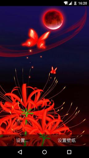 美艳红蝶与妖娆彼岸花 3D 高清动态壁纸