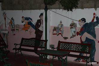 Photo: Pared del fondo del restaurante Casablanca
