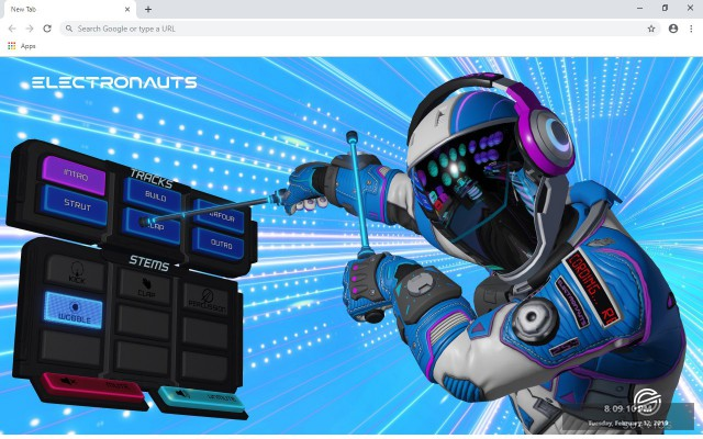 Electronauts New Tab & Wallpapers Collection