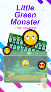 Little Green Monster Theme&Emoji Keyboard - náhled