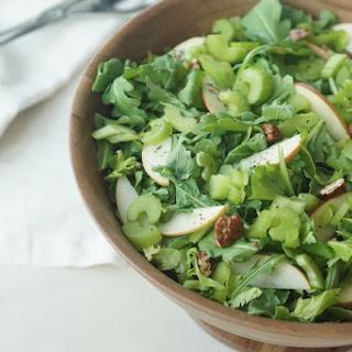 Celery, Pecan & Apple Arugula Salad with Cider Vinaigrette