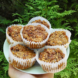 Carrot And Apple Oat Muffins.