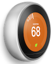 Nest thermostat heating with silver ring