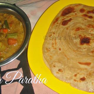 Lachha Paratha / Indian Layered Flatbread #Breadbakers