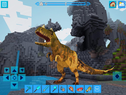 JurassicCraft: Free Block Build & Survival Craft 3.9.2 APK MOD screenshots 1