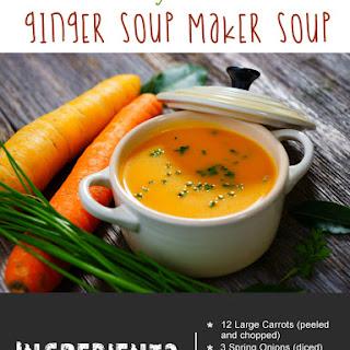 Healthy Carrot & Ginger Soup Maker Soup.