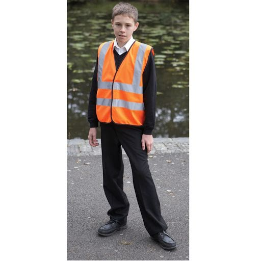 Childrens Hi Vis Waistcoat - Orange
