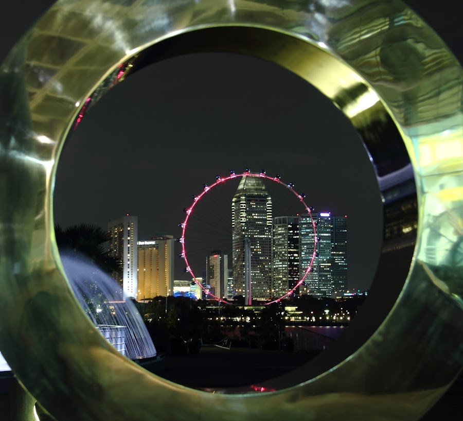 Through the circle is another circle by Rong Ren Seh - Buildings & Architecture Statues & Monuments