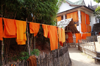 Photo: Laundry day for the monks